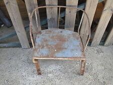 Ancien siège de tracteur en fer forgé déco atelier chalet vintage french antique