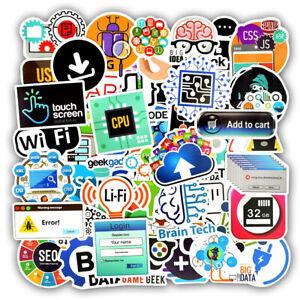 Stickers Internet Html PROGRAMMING Waterproof Stickers 50PCS DIY Laptop Phone