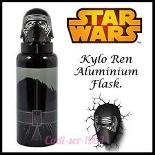 Star Wars Sculpted Lid Aluminium Bottle Kylo Ren Childrens Drink Container NEW