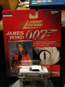 JOHNNY LIGHTNING 2000. JAMES BOND - THUNDERBALL. FORD MUSTANG CAR & CARD.