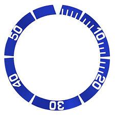 BEZEL INSERT FOR SEIKO 5 WATCH AUTOMATIC DIVER SNZ5K1 SBCZ011 WATCH BLUE