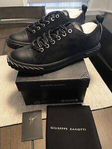 NEW Giuseppe Zanotti Black Blabber Sneaker Sz 12.5 US / 45.5 EUR