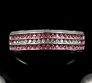 Platinum/Silver Style Girls Hip Hop Grillz Pink Simulated Diamond Bling! Love ly