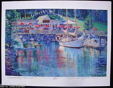 Rosario Cascade Bay Orcas Island MARSHALL JOHNSON Ltd Ed Print 8.5x11 Kayak Boat