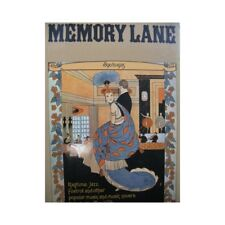 Memory Lane 1890 to 1925 Ragtime Jazz Foxtrot Piano 1973 partition sheet music s