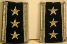 USAF Lieutenant General Female Epaulet Soft Shoulder Boards Pair McPeak Era
