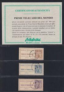 Francia  - Bulletin de Communication 10 - 25 - 30 cents  '900  A-08