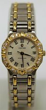 Ladies Concord Saratoga 15-73-287 Diamond Bezel Gold Two Tone Quartz Watch