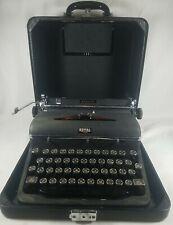 """Vintage 1937 Royal Aristocrat Portable Typewriter """"Magic Margin"""" w/Case See Pics"""