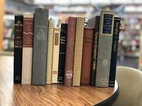 10 NEUTRAL Vintage BOOKS Mixed ~ Interior Decor ~ Wedding ~  Black Grey Brown