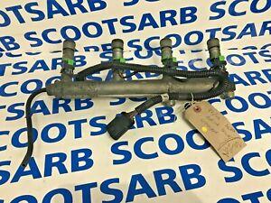 SAAB 9-3 93 Fuel Rail with Injectors Aero Petrol B207R 12790826 2003-2006 GREEN