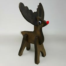 """Rough Cut Wooden Reindeer 13"""" Tall Christmas Holiday Decoration"""