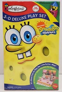 Nickelodeon SpongeBob SquarePants Colorforms 3D Deluxe Play Set 2009 NIP