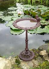 Vogeltränke 34 cm Vogelbad antik braun Gusseisen Futterschale Futterplatz Vogel