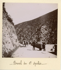 Algérie, Alger, Break du 1er Spahis, 1898, Vintage citrate print Vintage citrate