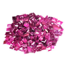 70.30Cts JEWELRY SETTING SIZE GEM PINK RED NATURAL RUBY SQUARE CUT LOT GEMSTONES