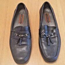 Florsheim Mens black leather slip on shoes, UK Size 9