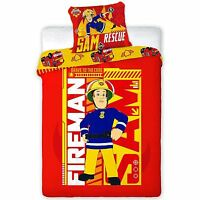 FIREMAN SAM BEDDING - SINGLE DOUBLE & JUNIOR DUVET COVER SETS BOYS BEDROOM
