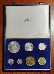 South Africa 1964 Proof Set in SAM Box(With Five Silver coins)
