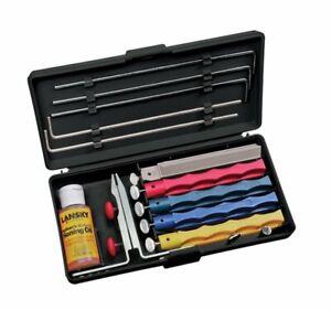 Lansky Professional Sharpening System, 5 Hone Stones + Guide Rods + Oil #LKCPR