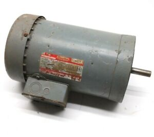 "Dayton 3N649 AC Motor, 3 Phase, 3450RPM, 3HP, 8/4A, 230/460VAC, 5/8"" Shaft"