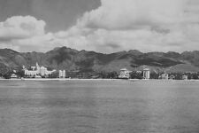 "ROYAL HAWAIIAN & MOANA HOTEL WAIKIKI HONOLULU HAWAII 1934 8x12"" B&W PHOTOGRAPH"