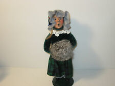 Byers Choice Retired 1996 Blonde Teen Girl with Magnificent Plaid Skirt and Muff