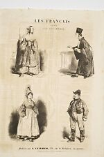 Les Français peints par Eux-Mêmes Avocat Nourrice Cond. Diligence Charivari 1839