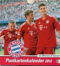 FC BAYERN MÜNCHEN POSTKARTEN KALENDER 2012