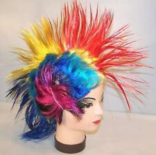 MULTICOLOR MOHAWK HAIR HAT costume rave dance party show new rainbow colorful