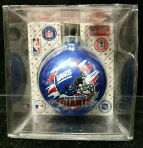 BN Sealed New York Giants NFL Sports Collectors Series Glass Ornament Lot B2-3-N