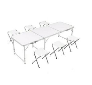 Table Set with 6 Chair, Outdoor Indoor Use for BBQ | Picnic | Garde