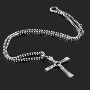 Classic Cross Style Necklace - Fast and Furious Vin Diesel Style - Silver