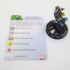 Heroclix Invincible Iron Man set War Machine #029b Prime figure w/card!