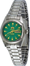 Orient BNQ1X003N Women's 3 Star Stainless Steel Green Dial Automatic Watch