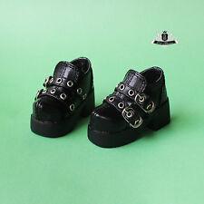 1/3 BJD Shoes SD13 Supper Dollfie black PUNK shoes boots DOD AOD LUTS MID EID DZ
