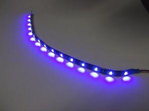 "BBT 12"" Flexible Waterproof 12 volt Blue LED Landscape Strip Light"