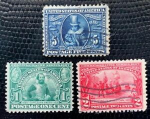 1907 US Stamp SC #328-330 Used Jamestown Exposition CV:$38
