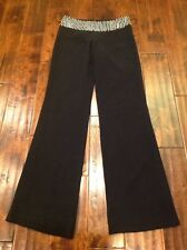 Temperley London Black Wide Leg Dress Pants W/ Beaded Waist, Size 2 (US) 6 (UK)