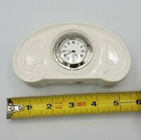 Lenox Mantle Clock Ivory Quartz Lovely Small Vintage