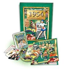 Great Birthday Gift Set: 1954 Flickback Book, DVD & Trivia Playing Cards