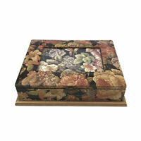 Vintage Floral Wooden Photo Box Memory Box Inset Photo Frame