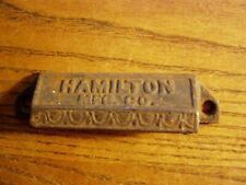 old Drawer Pull cup handle HAMILTON   vintage rustic cast iron