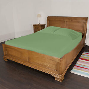 """1 Piece 15"""" Deep Pocket Fitted Sheet 100% Egyptian Cotton 1000TC Queen All Color"""