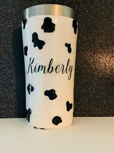 Cow Themed Glitter Tumbler, Ranch Life, Farm Life, Drinking Tumbler Personalized