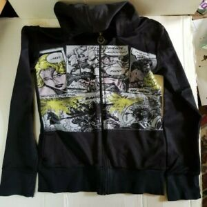 Criminal Damage Hoodie Black with Graphic print Size M
