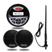 "Herdio Marine Bluetooth 4""Radio+3""Boat yacht black mini speakers+FM/AM Aerial"