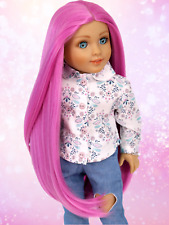 Custom American Girl Doll Wig |PERFECT PINK |10-11 size wig| GOTZ |Blythe| OG