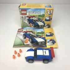 Genuine LEGO Creator 3 In 1 Blue Racer 67 Pieces 100% Complete #31027
