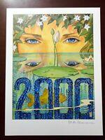 "Milo Manara ""Legambiente 2000"" 1999 Original Pencil Lithograph cm. 39,5x30 First"